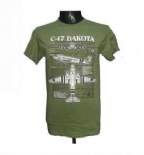 Dakota WWII / Military T-Shirt with a Blue Print Design